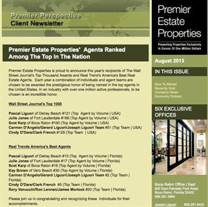Premier Estate Properties'  Agents Ranked Among The Top In The Nation
