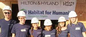 Hilton & Hyland Helping Hands Teams Up with Habitat for Humanity of Greater Los Angeles for Another Home Build