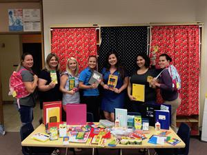 Dale Sorensen Real Estate staff supports students with annual back to school drive