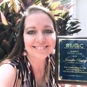 DSRE Sales Agent Jennifer Bailey named Rookie of the Year by REALTORS® Association of Indian River County