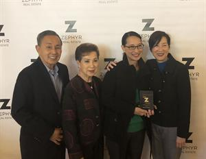 Kelly Quon Is Awarded Zephyr Real Estate's Golden Z Community Service Award