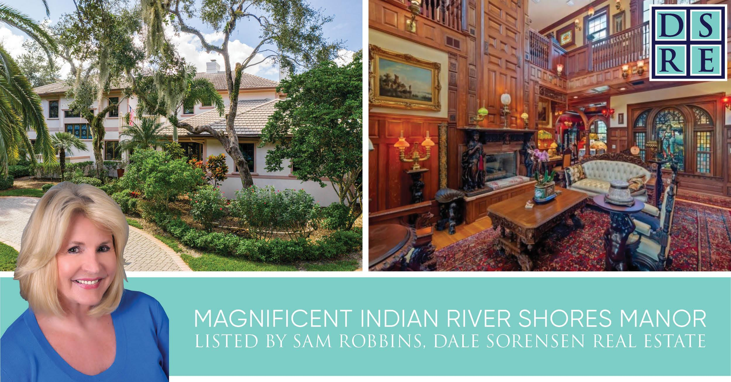 Magnificent Indian River Shores Manor listed by Sam Robbins, Dale Sorensen Real Estate